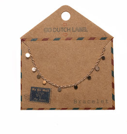 Go Dutch Label Armbanden Go Dutch Label - Mini coins rose goud