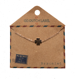 Go Dutch Label Armbanden Go Dutch Label - Klavertje vier rose goud