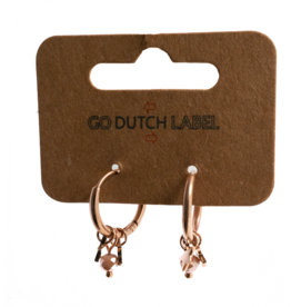 Go Dutch Label Oorbellen Go Dutch Label - Stars & Beads rose goud