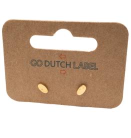 Go Dutch Label Oorbellen Go Dutch Label - stud ovaal goud