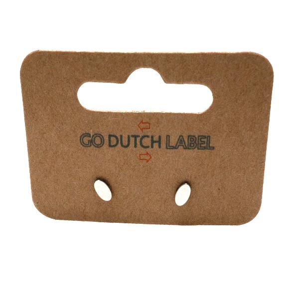 Go Dutch Label Oorbellen Go Dutch Label - stud ovaal zilver