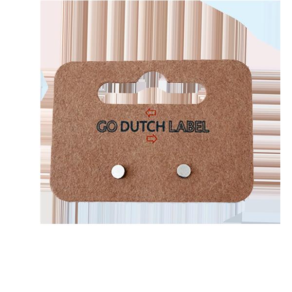 Go Dutch Label Oorbellen Go Dutch Label - stud rondje zilver