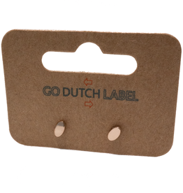 Go Dutch Label Oorbellen Go Dutch Label - stud ovaal rose goud