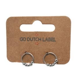 Go Dutch Label Oorbellen Go Dutch Label - Open cirkel zilver