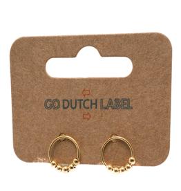 Go Dutch Label Oorbellen Go Dutch Label - Open cirkel goud
