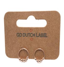 Go Dutch Label Oorbellen Go Dutch Label - Open cirkel rose goud