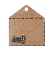 Go Dutch Label Kettingen Go Dutch Label - Medaillon klein met slang goud