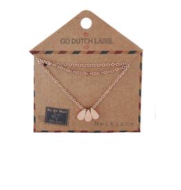 Go Dutch Label Kettingen Go Dutch Label - Druppels rose goud