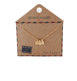 Go Dutch Label Kettingen Go Dutch Label - Druppels goud