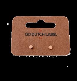 Go Dutch Label Oorbellen Go Dutch Label - stud rondje rose goud