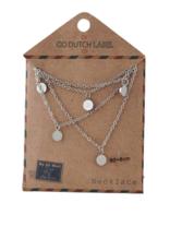 Go Dutch Label Kettingen Go Dutch Label - Coins ketting lang zilver