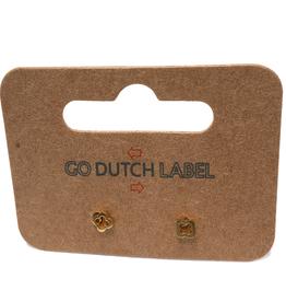 Go Dutch Label Oorbellen Go Dutch Label - kleine open klaver goud