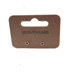 Go Dutch Label Oorbellen Go Dutch Label - kleine open klaver rose goud