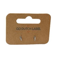 Go Dutch Label Oorbellen Go Dutch Label - stud klein veertje zilver