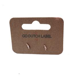 Go Dutch Label Oorbellen Go Dutch Label - stud klein veertje rose goud