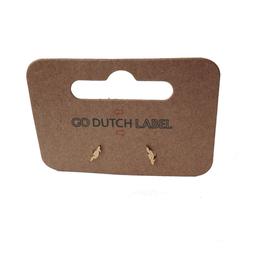 Go Dutch Label Oorbellen Go Dutch Label - stud klein veertje goud