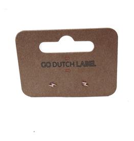 Go Dutch Label Oorbellen Go Dutch Label - stud bliksemschicht rose goud