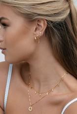 Eline Rosina Eline Rosina oorbellen - Snake stud chain earrings gold