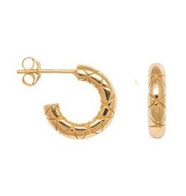 Eline Rosina Eline Rosina oorbellen - Chunky snake hoops gold