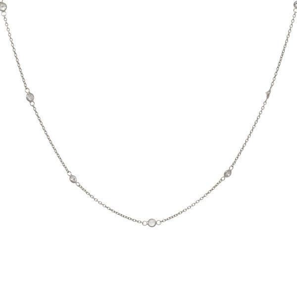 Eline Rosina Eline Rosina ketting - Zirconia dots necklace sterling zilver