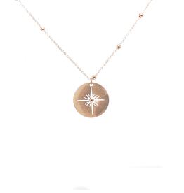 ZAG Bijoux ZAG Bijoux ketting -  amulet north star goud extra lang