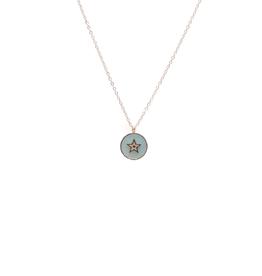 ZAG Bijoux ZAG Bijoux ketting -  star stone aqua gold