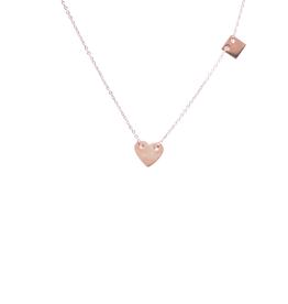 ZAG Bijoux ZAG Bijoux - ketting  hart rose goud