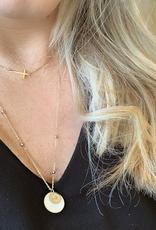 ZAG Bijoux ZAG Bijoux ketting -  Parelmoer amulet goud extra lang