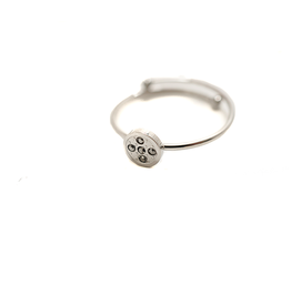 ZAG Bijoux ZAG Bijoux - Cirkel swarovski ring zilver