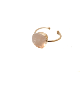 Made by Mila Mila ring - Roze steen goud