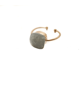 Made by Mila Mila ring - Grijze steen goud