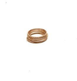 ZAG Bijoux ZAG Bijoux - 7 losse ringen goud