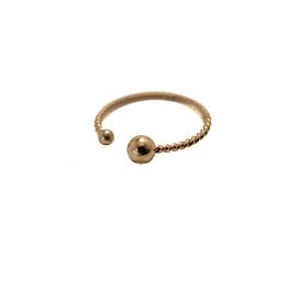 ZAG Bijoux ZAG Bijoux - ring enkel twisted round goud