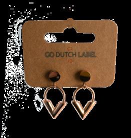 Go Dutch Label Oorbellen Go Dutch Label - Hanger V rose goud