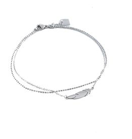 ZAG Bijoux ZAG Bijoux enkelbandje - Liggende veer zilver
