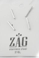 ZAG Bijoux ZAG Bijoux -   Staafje zilver (1,5 cm) oorbellen
