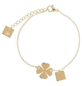 ZAG Bijoux Armband ZAG Bijoux - Klavertje vier goud