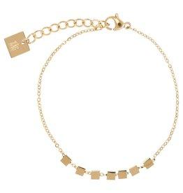 ZAG Bijoux ZAG Bijoux -Kubus/cubes gold armband