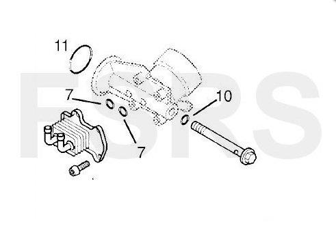 Opel Gasket Kit Oil Cooler Y17dt Y17dtl Z17dth Z17dtl