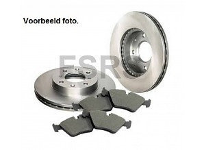 Opel  Complete set front brakedisks and pads Opel Agila-B