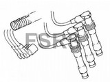AM Bougiekabelset cilinder 2-4-6 Opel Vectra-B X25XE