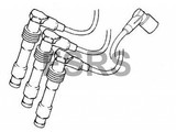 AM Bougiekabelset cilinder 1-3-5 Opel Vectra-B X25XE