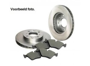 Opel  Kit brake pads and discs front Opel Astra-G 4-studs