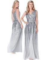 Zilveren feestjurk - 202126