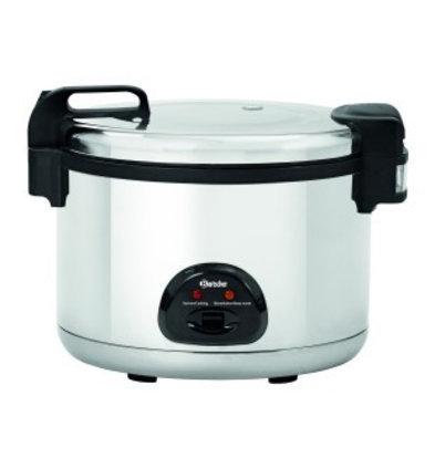 Bartscher Cuiseur à riz au format XXL | 12 Litres | Doseur + Cuillère à riz + Cuillère à pot
