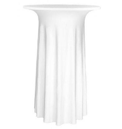 Unicover Housse de Table Cocktail DELUXE   Blanc   Disponibles en 3 Tailles