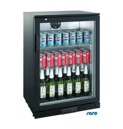 Saro Arrière-Bar Noir | Simple Porte Battante | Capacité 138 Litres | 850(h)mm