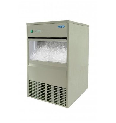 Saro Machine à Glaçons INOX | 45kg/24h | Stockage 10kg | 2 Ans de Garantie