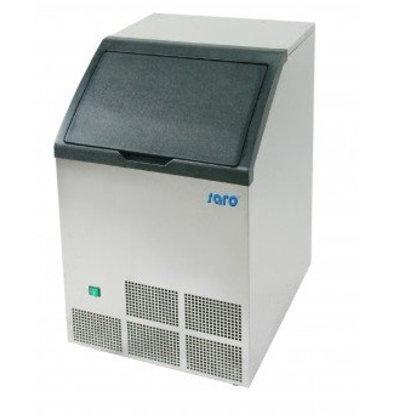 Saro Machine à Glaçons INOX | 40kg/24h | Stockage 12kg | Glaçons Carrés