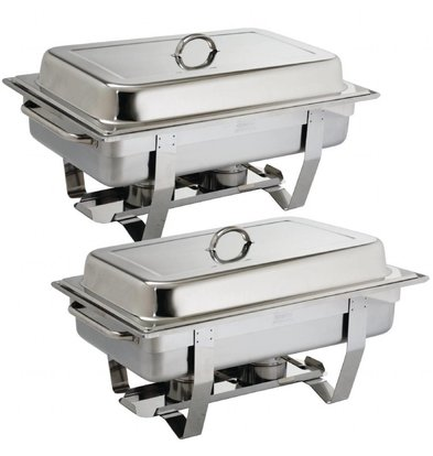 CHRselect Set de 2 Chafing Dishes Milan   GN1/1   9 Litres